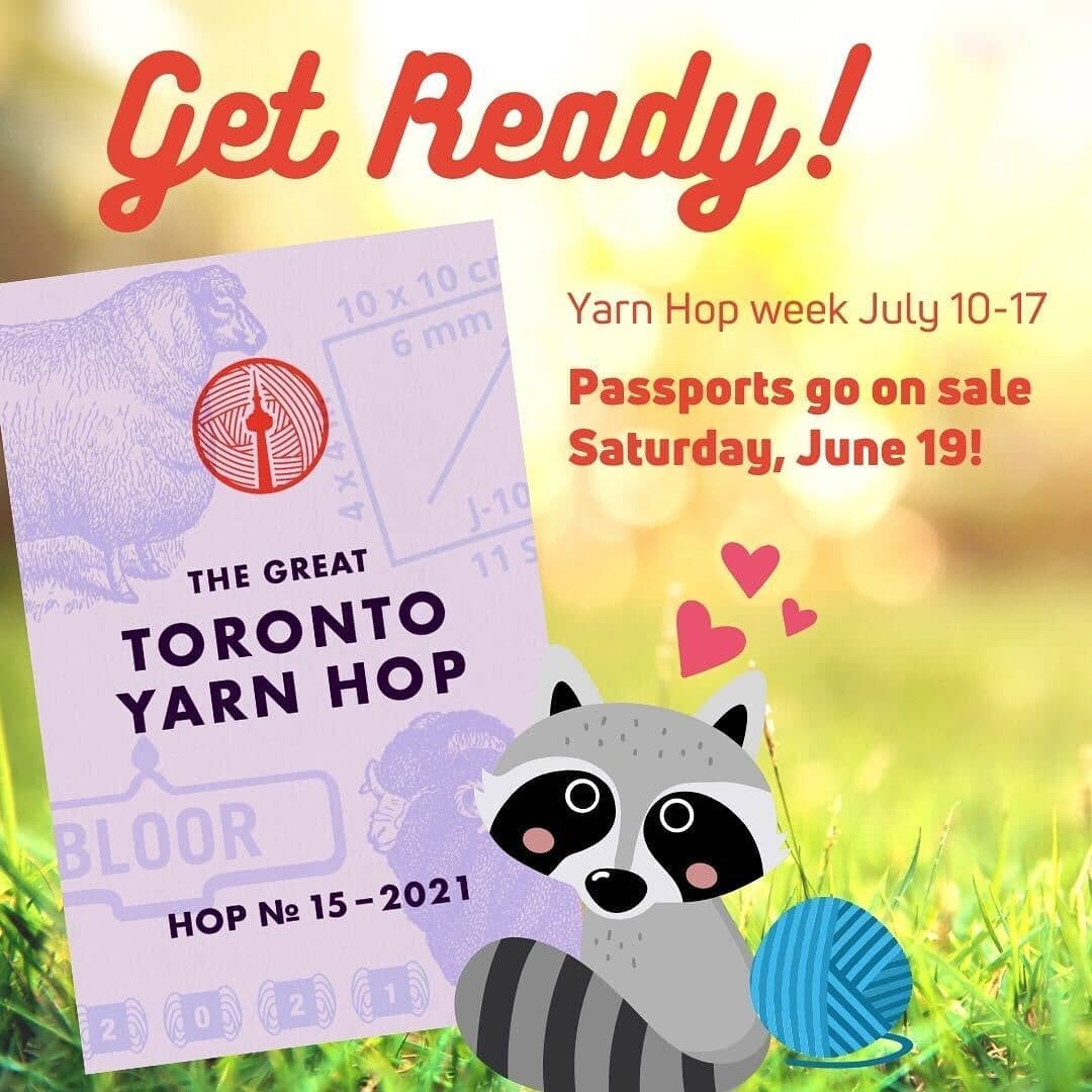 Get ready! Yarn Hop week July 10-17. Passports go on sale Saturday, June 19.